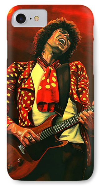 Rolling Stone Magazine iPhone 7 Case - Keith Richards Painting by Paul Meijering