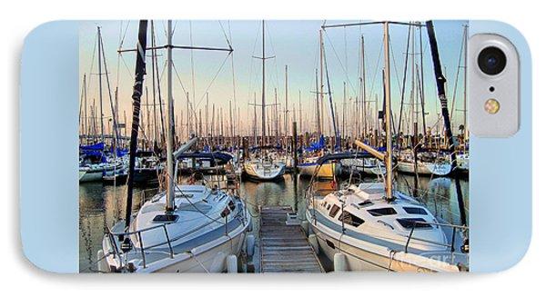 Kemah Boardwalk Marina IPhone Case by Savannah Gibbs