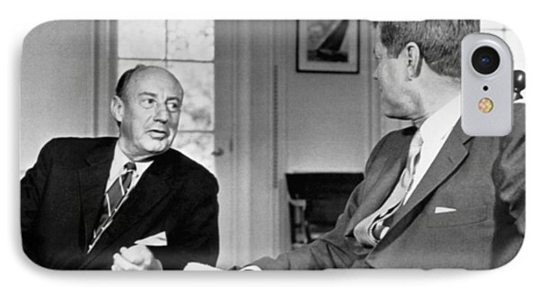 Kennedy And Adlai Stevenson IPhone Case