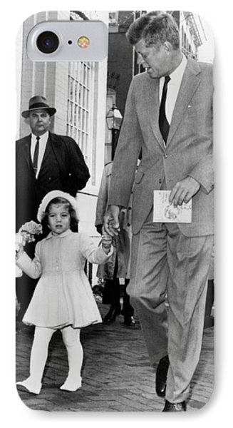 Kennedy And Daughter Caroline IPhone Case