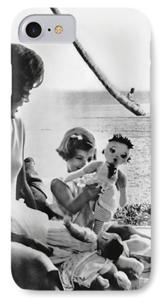 Kennedy Family At Palm Beach IPhone Case by Underwood Archives