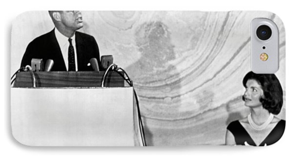 Kennedy Speaks At Fundraiser IPhone Case by Underwood Archives