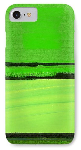 Kensington Gardens Series Green On Green Oil On Canvas IPhone Case by Izabella Godlewska de Aranda