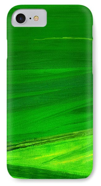 Kensington Gardens Series My World Of Green 4 Oil On Canvas IPhone Case by Izabella Godlewska de Aranda