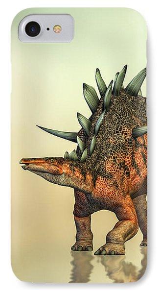 Kentrosaurus Dinosaur IPhone Case by Bob Orsillo