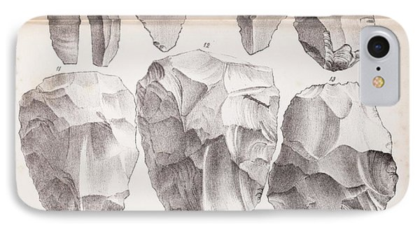 Kents Cavern Stone Tools IPhone Case by Paul D Stewart