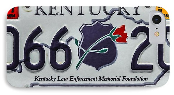 Kentucky Law Enforcement Memorial Foundation IPhone Case by Lanjee Chee