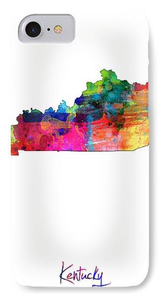 Kentucky Map IPhone Case
