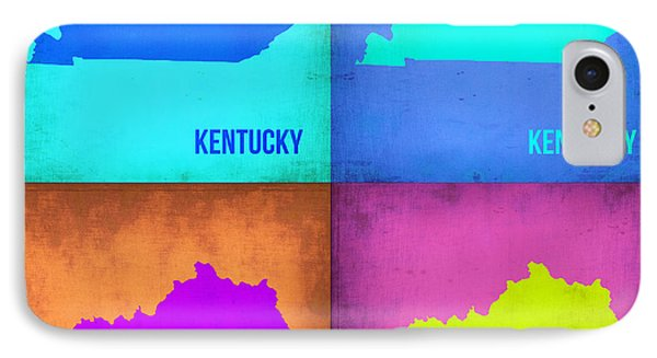 Kentucky Pop Art Map 1 IPhone Case