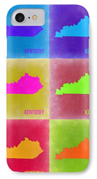 Kentucky Pop Art Map 2 IPhone Case