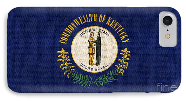 Kentucky State Flag IPhone Case by Pixel Chimp