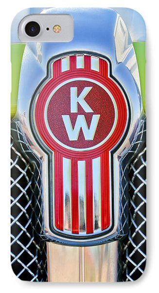 Kenworth Truck Emblem -1196c IPhone Case by Jill Reger