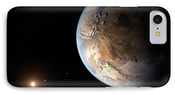 Kepler-186f Exoplanet IPhone Case by Nasa/ames/seti Institute/jpl-caltech