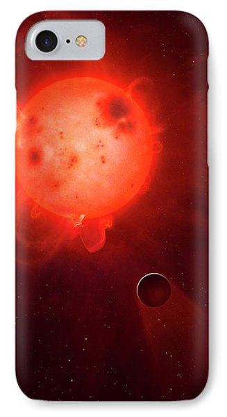 Kepler 438 And Rocky Planet 438b IPhone Case by Mark Garlick