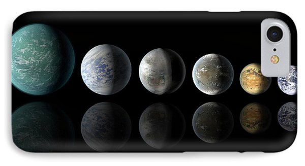 Kepler Exoplanets And Earth IPhone Case by Nasa/ames/jpl-caltech