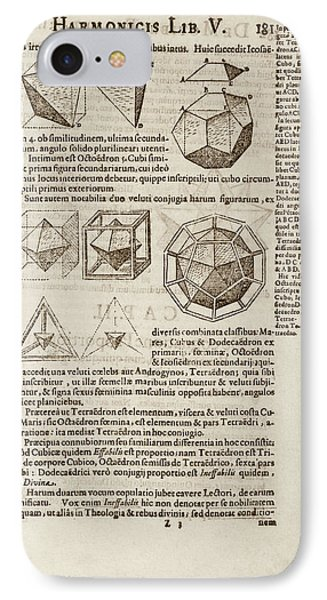 Kepler On Platonic Solids IPhone Case by Library Of Congress