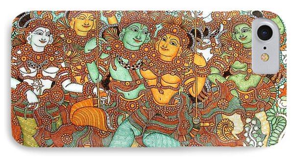 Kerala Mural Painting IPhone Case by Pg Reproductions