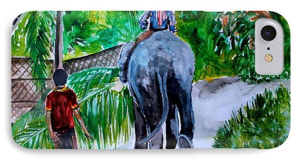 IPhone Case featuring the painting Kerala by Saranya Haridasan