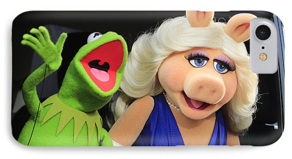 Kermit Takes Miss Piggy To The Movies IPhone Case by Nina Prommer