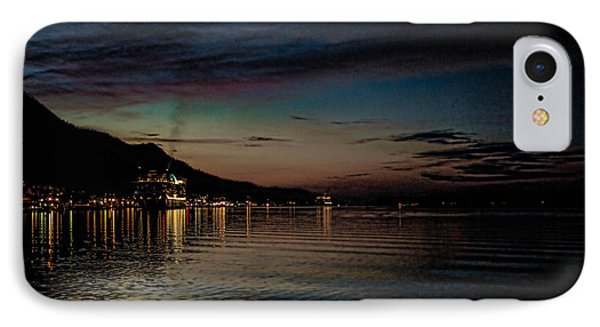 Ketchikan Sunrise With Ships IPhone Case by Timothy Latta