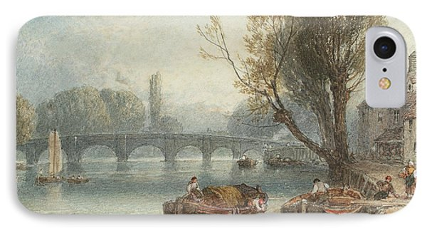 Kew Bridge From Standing On The Green IPhone Case by Myles Birket Foster