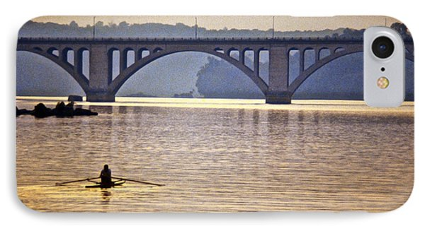 Key Bridge Rower IPhone Case by Stuart Litoff