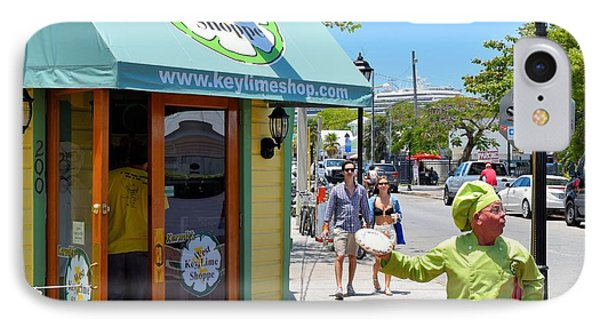 Key Lime Pie Man In Key West IPhone Case