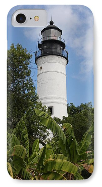 Key West Lighthouse  IPhone Case by Christiane Schulze Art And Photography