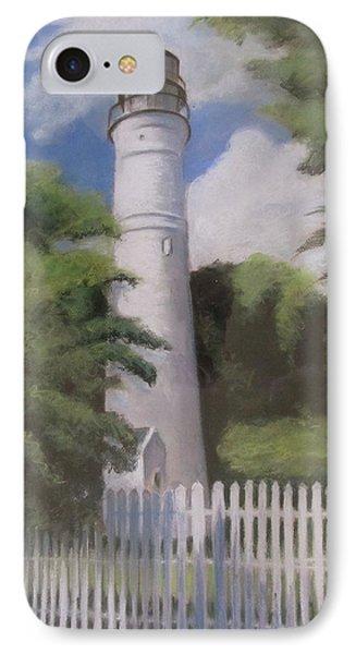 IPhone Case featuring the painting Key West Lighthouse by Melinda Saminski