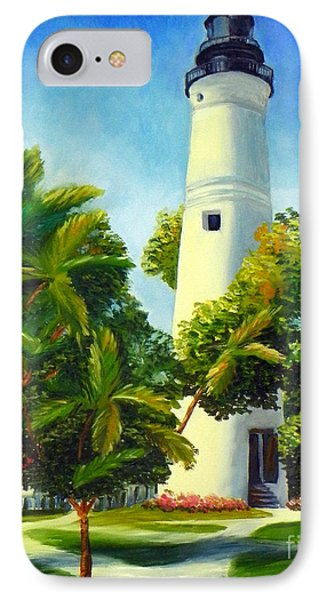 IPhone Case featuring the painting Key West Lighthouse by Shelia Kempf