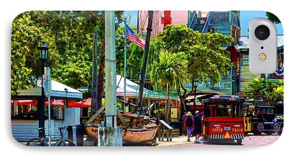 Key West Square IPhone Case by Pamela Blizzard