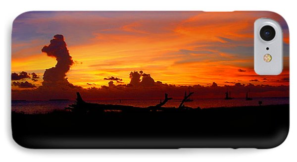 Key West Sun Set Phone Case by Iconic Images Art Gallery David Pucciarelli
