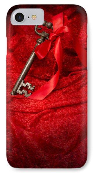 Key With Ribbon IPhone Case by Amanda Elwell