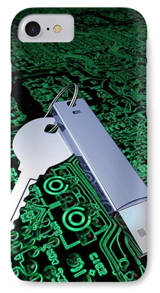 Key With Usb Device And Circuit Board IPhone Case