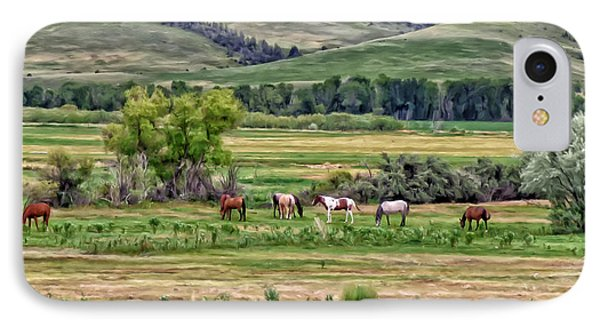 IPhone Case featuring the painting K G Ranch by Michael Pickett