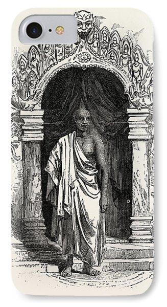 Kiddapple, The Rebel Buddhist Priest, Shot At Kandy IPhone Case by Sri Lankan School