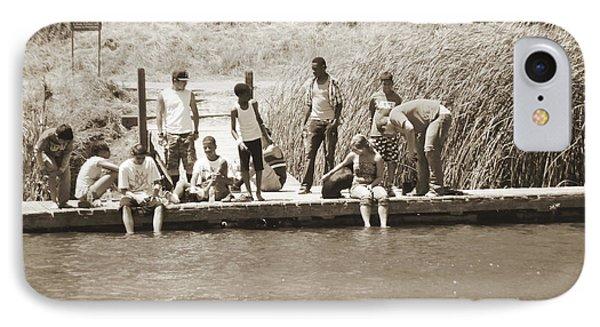 IPhone Case featuring the photograph Kids At Lake Chabot by Hiroko Sakai