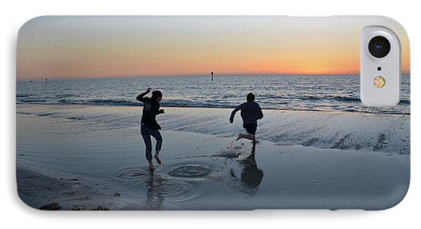 IPhone Case featuring the photograph Kids At The Beach by Robert Meanor