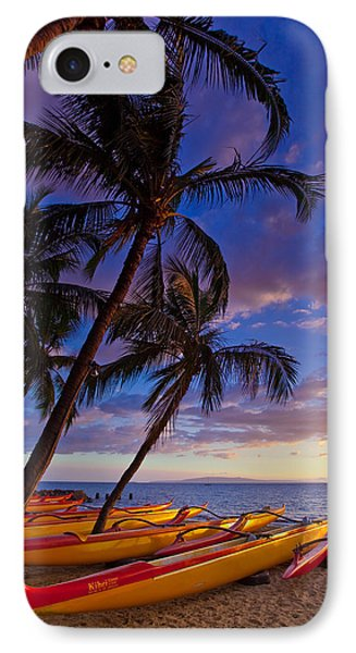 Kihei Canoes IPhone Case by James Roemmling