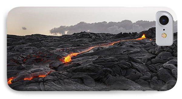 Kilauea Volcano 60 Foot Lava Flow - The Big Island Hawaii Phone Case by Brian Harig