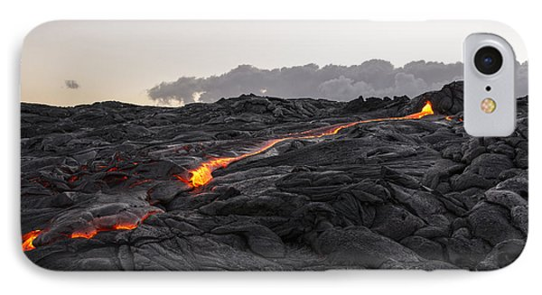 Kilauea Volcano 60 Foot Lava Flow - The Big Island Hawaii IPhone Case by Brian Harig