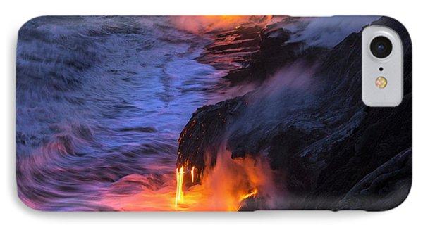 Kilauea Volcano Lava Flow Sea Entry 5 - The Big Island Hawaii Phone Case by Brian Harig