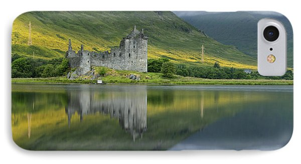 Kilchurn Castle At Sunrise IPhone Case by Stephen Taylor