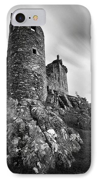 Kilchurn Castle Walls IPhone Case by Dave Bowman