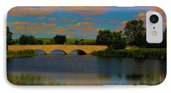 IPhone Case featuring the photograph Kilkona Park Bridge by Larry Trupp