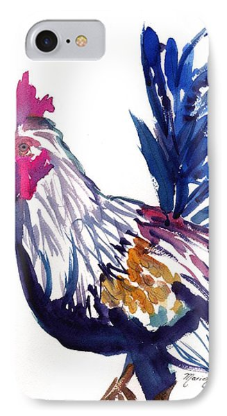 IPhone Case featuring the painting Kilohana Rooster by Marionette Taboniar