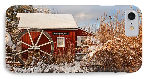 Kimberton Mill After Snow IPhone Case