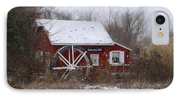 Kimberton Mill - Wintertime IPhone Case by Bill Cannon