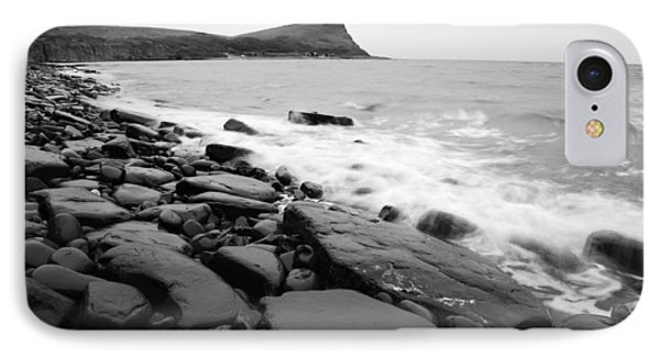 Kimmeridge Bay In Black And White IPhone Case