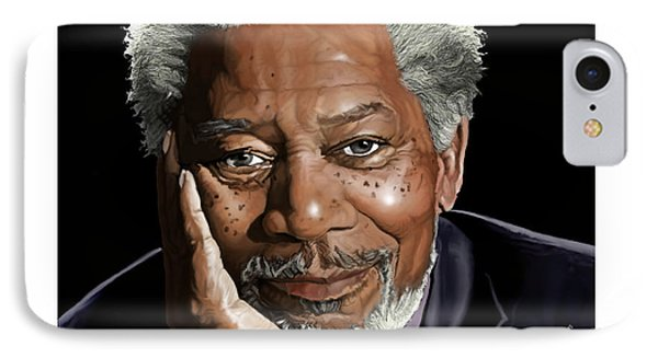 Kind Face Morgan Freeman Phone Case by Brien Miller